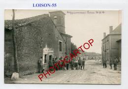 LOISON-CARTE PHOTO Allemande-Guerre 14-18-1 WK-FRANCE-55- - Francia
