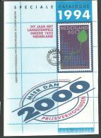 PAYS-BAS: NVPH, Spéciale Catalogus 1994, Broché 575 Pages. TB - Zonder Classificatie
