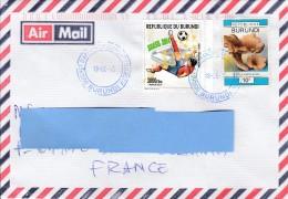 Z3] Enveloppe Cover Burundi Football Soccer Coupe Du Monde Brésil 2014 World Cup - Football