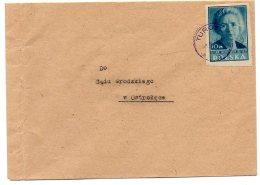 Kult091 1947  Série Culture 10zl  Marie Curie  Non Dentelé Bleu  Seul Sur Lettre - 1944-.... Republik