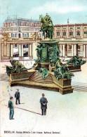 "(A) Original Litho-Ansichtskarte ""BERLIN Kaiser Wilhelm I. Der Grosse, National-Denkmal TSt. Berlin 12.12.09 - Germania"