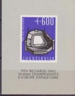1962 European Athletics Championships, Belgrade Jugoslavia Sheet - Atletica