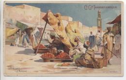 Illustrateur - LESSIEUX - Casablanca: Le Marchè, Femme Voilée - Cie Gle Transatlantique - Lessieux