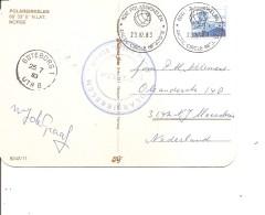 Stations Scientifiques ( Carte Postale De Norvège - Base Polaire- De 1983 Vers Les Pays-Bas à Voir) - Wetenschappelijke Stations & Arctic Drifting Stations