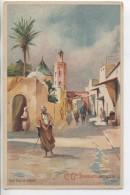 Illustrateur - LESSIEUX - Maroc: Une Rue De Rabat - Cie Gle Transatlantique - Lessieux