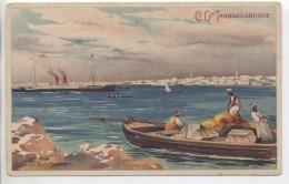 Illustrateur - LESSIEUX - Maroc: La Rade De Casablanca - Cie Gle Transatlantique - Lessieux