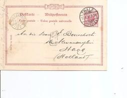Allemagne ( EP De 1890 De Thale Vers Les Pays-Bas à Voir) - Briefe U. Dokumente