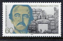 BRD 1990  Schliemann Centenary MNH / **.  Michel 1480 - [7] Federal Republic