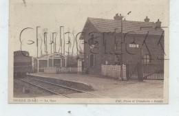 Néville (76) : Locomotive Près De La Gare  En 1928 (animé) PF. - France