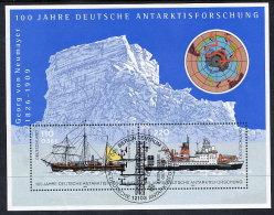 BRD 2001 Centenary Of Antarctic Exploration Block Used.  Michel Block 57 - [7] Federal Republic