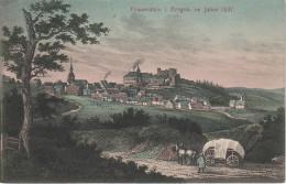 Litho AK Erzgebirge Frauenstein Ruine Burg 1837 Bei Freiberg Dippoldiswalde Hartmannsdorf Reichenau Nassau Hermsdorf - Frauenstein (Erzgeb.)