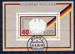 BRD 1974 25th Anniversary Of Federal Republic Block Used.  Michel Block 10 - [7] Federal Republic