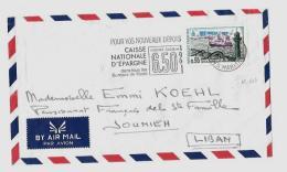 06 – Alpes Mmes « NICE »LSE - Tarif P.A. « LIBAN » à 0F.95  (13.1.1969/11.1.1970) * L.E. 1 - Posta Aerea