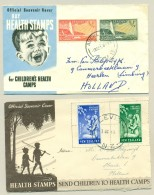 New Zealand - 1949/51 - 2 Health-stamp Covers To The Netherlands - Covers & Documents