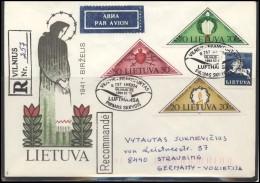 LITHUANIA Cover Special Cancellation LT SPEC 030-4 LUFTHANSA First Flight Vilnius-Frankfurt - Lituania