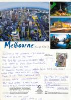 Melbourne, Victoria, Australia Postcard Posted 2011 Stamp - Melbourne