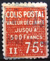 FRANCE             C.P 164              OBLITERE - Colis Postaux