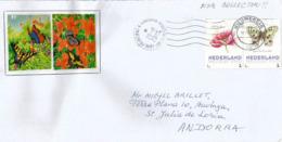 Papillon Apollo, Sur Lettre PAYS-BAS / NETHERLANDS, Adressée ANDORRA,  Avec Timbre à Date Arrivée - Butterflies
