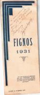 Programme En 3 Volets Du 18/01/1931 FIGNOS 1931 Cluny 71- Nombreux Autographes - Programmes