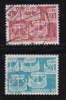 DENMARK, 1969, Used Stamp(s), Cooperation In Scandinavia, MI 475-476, #10097 , Complete - Denmark
