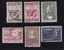 DENMARK, 1971, Used Stamp(s), Various Stamps, MI 507=518, #10103, 6 Values - Denmark