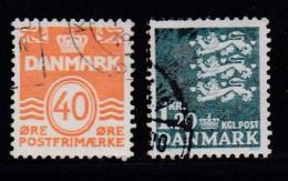 DENMARK, 1971, Used Stamp(s), Definitives, MI 512-513, #10104, 2 Values - Denmark