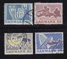 DENMARK, 1971, Used Stamp(s), Sports, MI 514-517, #10106, Complete - Denmark