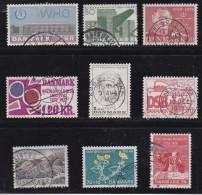 DENMARK, 1972, Used Stamp(s), Various Stamps, MI 519=531, #10107, 9 Values - Denmark