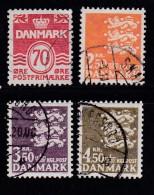DENMARK, 1972, Used Stamp(s), Definitives, MI 525-528, #10108, Complete - Denmark