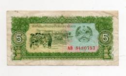 Laos -  - Banconota Da 5 Kip - Usata -  (FDC313) - Laos