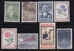 DENMARK, 1973, Used Stamp(s), Various Stamps, MI 540=549, #10111 9 Values - Denmark