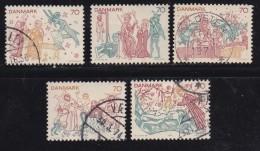 DENMARK, 1973, Used Stamp(s), Paintings, MI 550-554, #10113 Complete - Denmark