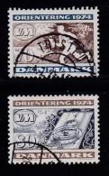 DENMARK, 1974, Used Stamp(s), Orienterung,  MI 573-574, #10117 Complete - Denmark