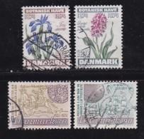 DENMARK, 1974, Used Stamp(s), Garden & Post,  MI 575-578, #10118 Complete - Denmark