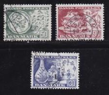 DENMARK, 1975, Used Stamp(s), Danish Porcelain,  MI 589-591, #10121, Complete - Denmark