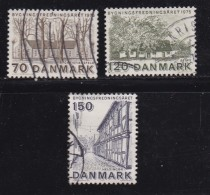 DENMARK, 1975, Used Stamp(s), Protecting Monuments,  MI 592-594, #10122, Complete - Denmark