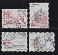 DENMARK, 1975, Used Stamp(s), Tourism Jutland,  MI 598-601, #10124, Complete - Denmark