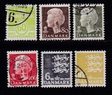 DENMARK, 1976, Used Stamp(s), Definitives,  MI 621-626, #10129, 6 Values - Denmark