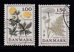 DENMARK, 1977, Used Stamp(s), Flowers,  MI 653-654, #10138, Complete - Denmark