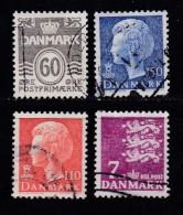 DENMARK, 1978, Used Stamp(s), Definitives,  MI 656-659, #10140, 4 Values - Denmark