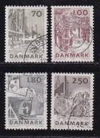 DENMARK, 1978, Used Stamp(s), Catching Fish,  MI 668-671, #10143, Complete - Denmark