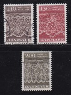 DENMARK, 1980, Used Stamp(s), Kniplinger Art,  MI 715-717, #10153, Complete - Denmark
