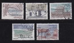 DENMARK, 1981, Used Stamp(s), Tourism Seeland,  MI 733-737, #10157, Complete - Denmark