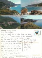 Cabot Trail, Cape Breton Island, Nova Scotia, Canada Postcard Posted 2009 Stamp - Cape Breton