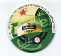 """Convertisseur D'euro Sous-bock """"Bière Heineken"""" 2002 - Non Classés"""