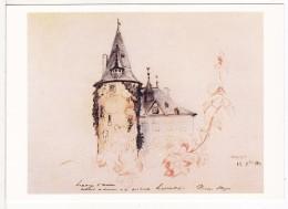 SCHENGEN (Luxembourg)  Château Ou Séjourna Victor Hugo Curiste à Mondorf Les Bains-Dessin-Musée VIANDEN VOIR 2 SCANS - - Autres