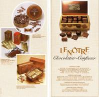 LENOTRE  *Glacier  *Chocolatier-Confiseur - Menus