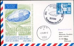 GÖLTZSCHTALBRÜCKE DDR PP17 C2/010b Privat-Postkarte ZEPPELIN Reichenbach Sost. 1980  NGK 5,00 € - Bridges