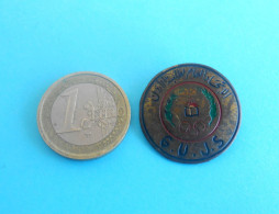 G.U.J.S. - General Union Of Jordanian Students - Old Rare Pin Badge * Palestina Palestine Jordan - Badges & Ribbons