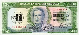 Uruguay 0.5 Nuevo On 500 Pesos 1975 Pick 54 UNC - Uruguay